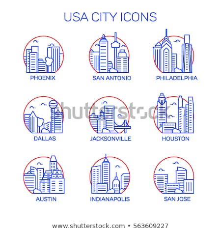 Dallas stad icon eenvoudige illustratie skyline Stockfoto © blamb