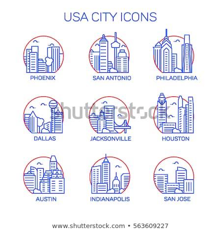 Dallas · silhouet · gebouw · skyline · architectuur - stockfoto © blamb