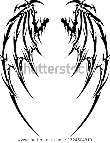 Stock photo: Wings tribal