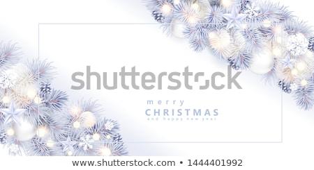 metal white christmas tree stock photo © melnyk