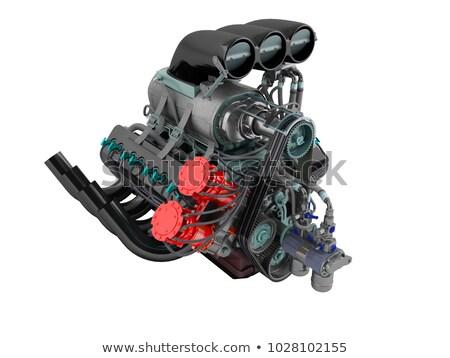 gyújtás · gázolaj · belső · égés · gép · új - stock fotó © mar1art1