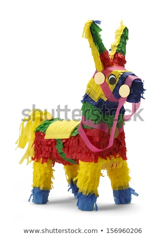 Stock photo: Mexican donkey pinata on isolated background