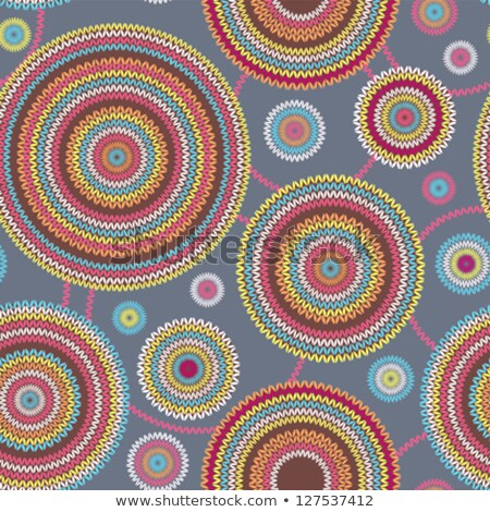 abstract seamless knitted pattern needlework round geometric knitted pattern stock photo © essl