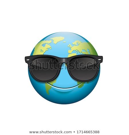 Föld hangulat illusztráció víz földgömb térkép Stock fotó © bluering