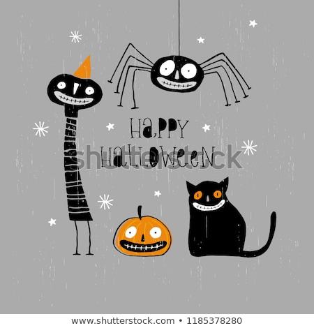 Halloween cartão ilustração aranha medo Foto stock © adrenalina