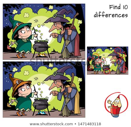 Differenze gioco halloween colore libro Foto d'archivio © izakowski