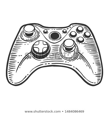 Jeu joystick dessinés à la main doodle icône Photo stock © RAStudio