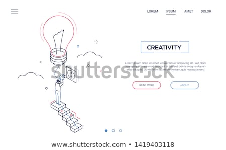 Way to success - modern isometric vector web banner Stock photo © Decorwithme
