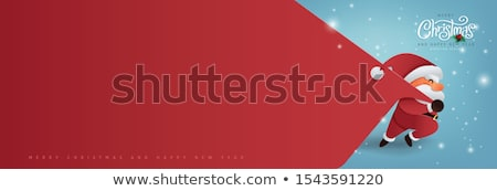 christmas sale concept design with running santa stock photo © sgursozlu