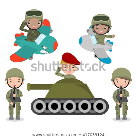 Soldat réservoir illustration design art casque Photo stock © bluering