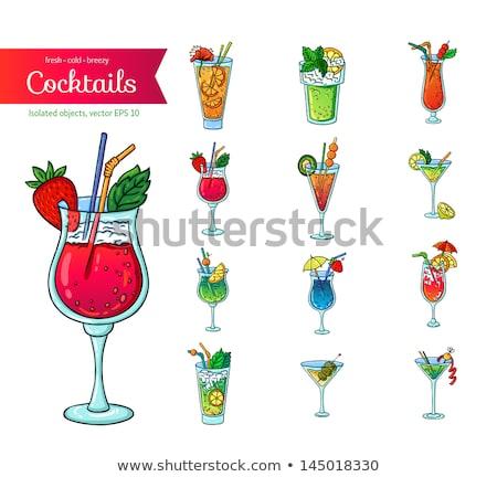 martini cocktail cartoon style isolated on white stock photo © robuart