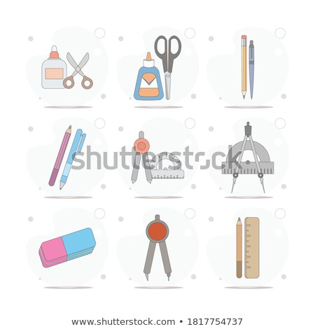 Stock foto: School Chancery Collection Vector Illustration