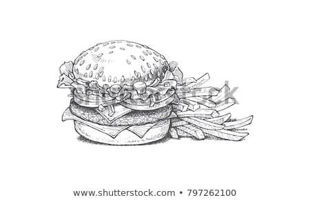 Vektor burger Set Illustration Symbol Fast-Food-Restaurant Stock foto © tele52