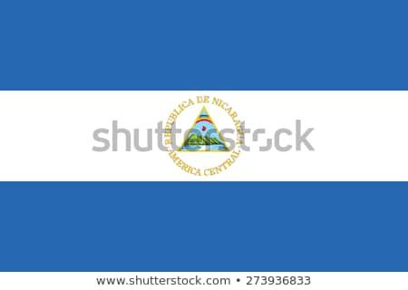 ニカラグア フラグ 白 抽象的な 青 波 ストックフォト © butenkow