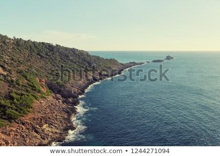 Es Ribell, rocky shoreline Mediterranean sea. Majorca. Spain Stock photo © amok