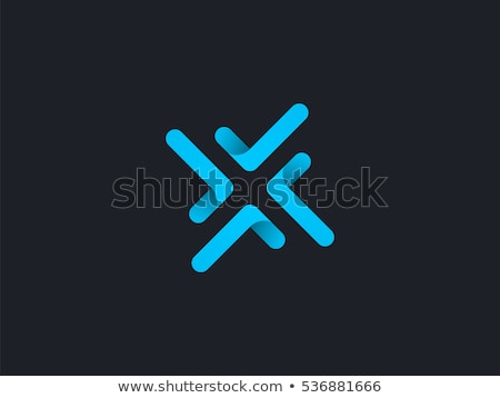 letter x blue sign logotype vector icon design stock photo © blaskorizov