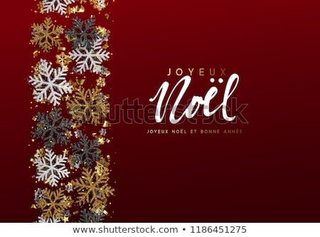 rouge · or · Noël · 3D · ornement · layout - photo stock © cienpies