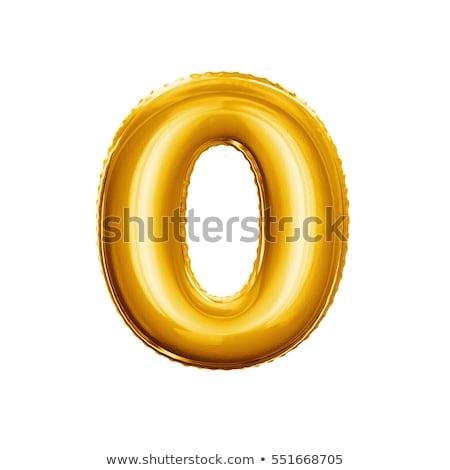 Golden number 0 ZERO 3D Stock photo © djmilic