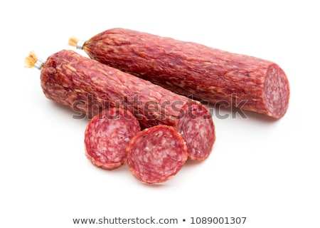 Salame salsichas enforcamento cordas casa fundo Foto stock © grafvision