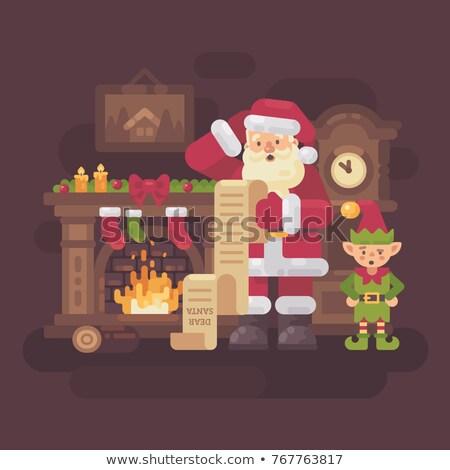 混乱 · サンタクロース · 読む · 子供 · 手紙 · クリスマス - ストックフォト © IvanDubovik