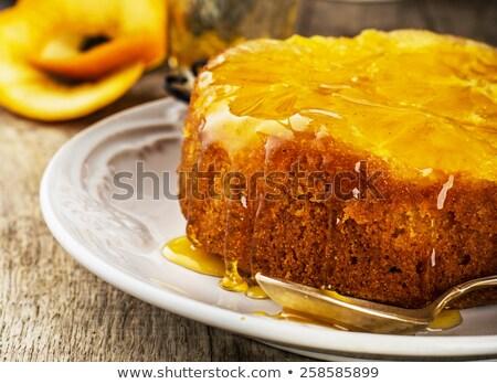 Mandarin fókusz torta narancs desszert édes Stock fotó © zoryanchik