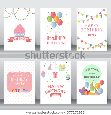 cute dots and symbols valentine card template stock photo © ivaleksa