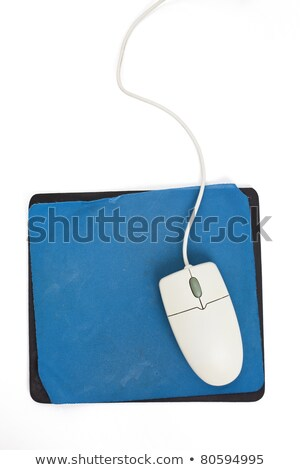 Stock photo: computer mouse and old mouse pad