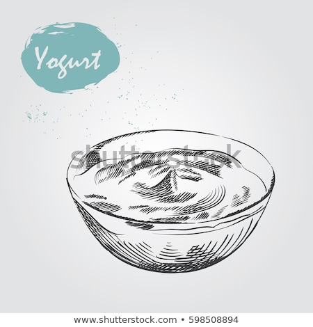 サワークリーム パッケージ 漫画 スタイル ベクトル セット ストックフォト © robuart