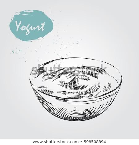 Crème forfaits cartoon style vecteur Photo stock © robuart
