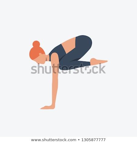 jóga · fitnessz · meditáció · ikon · gyűjtemény · terv · izolált - stock fotó © wad