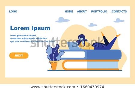 ebook · lezer · toepassing · elektronische · encyclopedie · web - stockfoto © rastudio