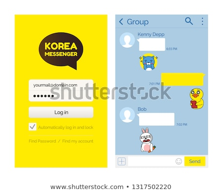 Kakaotalk Messenger Korean Application for Users Stock photo © robuart
