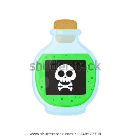 Bouteille magie acide vert toxique poison Photo stock © jossdiim