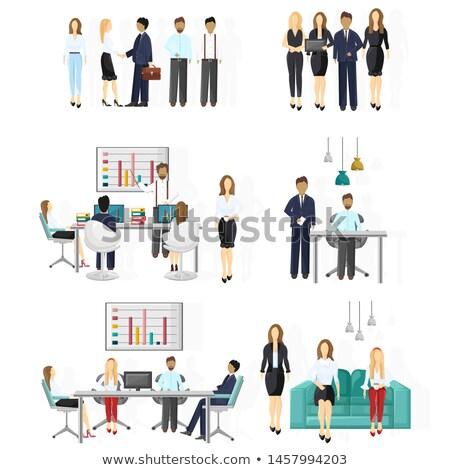 vector set of office worker Stock photo © olllikeballoon