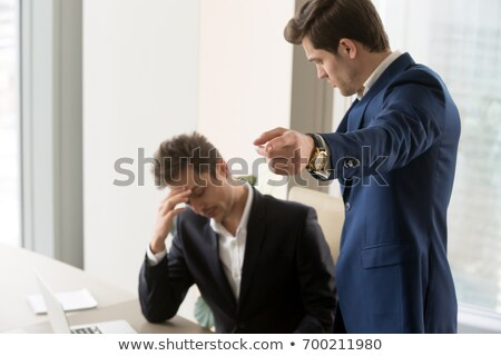 Jóvenes empresario jefe cruel agresivo blanco Foto stock © ra2studio