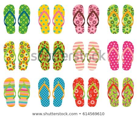 Set Of Stripe Sandal Stockfoto © Pravokrugulnik