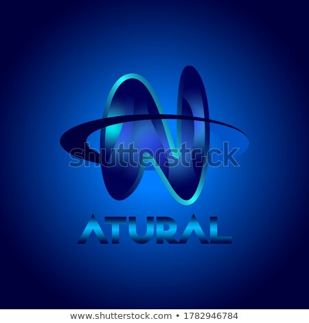 Chrome font with colorful reflections Letter N 3D Stock photo © djmilic