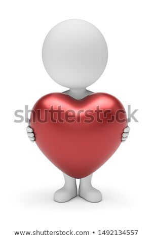 3D grande rojo mano pequeño Foto stock © ribah