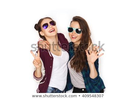 Солнцезащитные очки мира знак лет Сток-фото © dolgachov