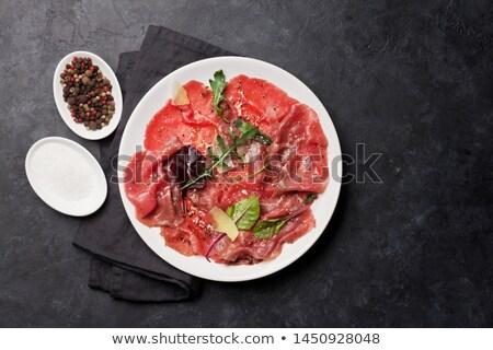 Marbled beef carpaccio Stock photo © karandaev