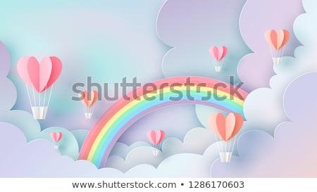 любви радуга рисованной дизайна празднования правые Сток-фото © sonia_ai