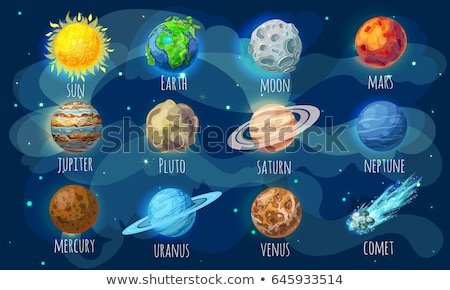 vector set of earth cartoon stock photo © olllikeballoon