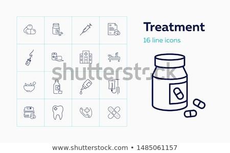 anestezi · hat · ikon · vektör · yalıtılmış · beyaz - stok fotoğraf © olllikeballoon