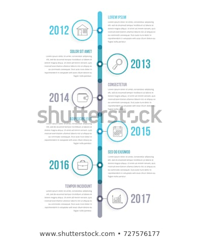 Vertical timeline template with icons Сток-фото © orson