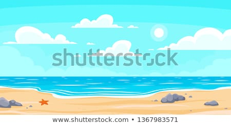 vector summer cartoon seascape, landscape Foto d'archivio © VetraKori