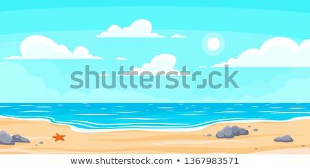 cartoon · marin · plage · ciel · nature · océan - photo stock © vetrakori