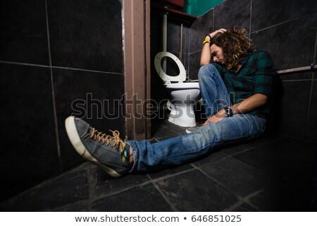 Inconsciente hombre dormir vista Foto stock © AndreyPopov