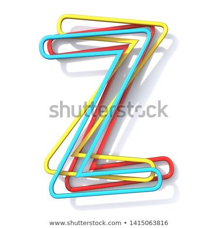 Stock fotó: Három · alapvető · szín · drót · betűtípus · z · betű
