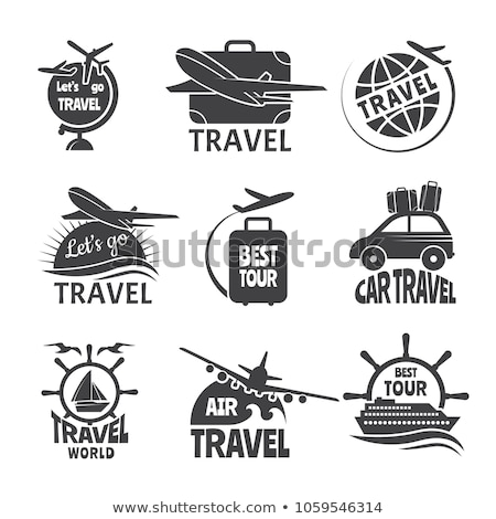 Vintage tour agency emblems Stock photo © netkov1