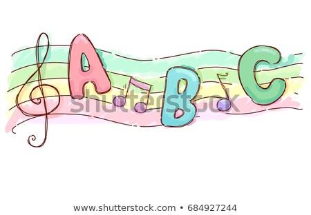 Music Sheet Alphabet Song Illustration Stock photo © lenm
